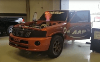 Ballistic Nissan Patrol sets world speed record in Qatar