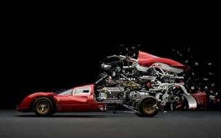 Swiss artist's images of 'exploded' Ferrari 330 P4 are stunning