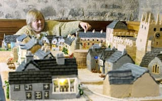 Woman makes entire village made from cake