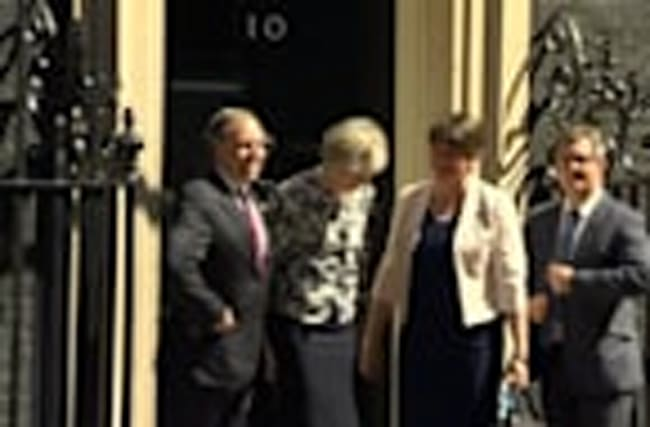 May secures deal to back minority government