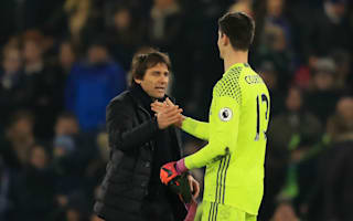 Courtois credits 'demanding' Conte for Chelsea form