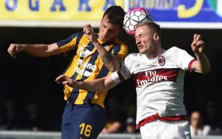 Verona 2 AC Milan 1: Last-gasp Siligardi free-kick hands hosts a lifeline
