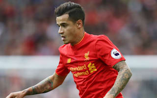 Liverpool's Coutinho carried off on stretcher