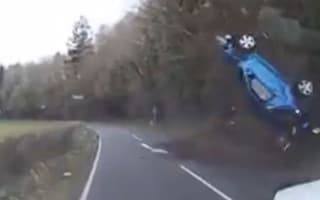 Woman makes miraculous escape after car somersaults