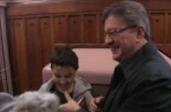 Far-left presidential candidate Melenchon votes in Paris