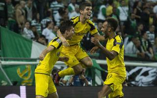 Sporting CP 1 Borussia Dortmund 2: Aubameyang and Weigl get BVB back to winning ways