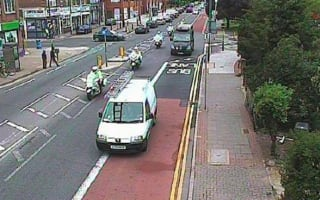 Van driver fined for pulling into bus lane to let police pass