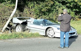 Rare Ferrari F50 crashed