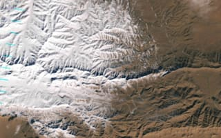 Satellite image shows first Sahara Desert snow fall in 37 years