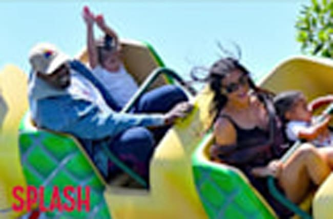 Kim Kardashian and Kanye West Enjoy Disneyland