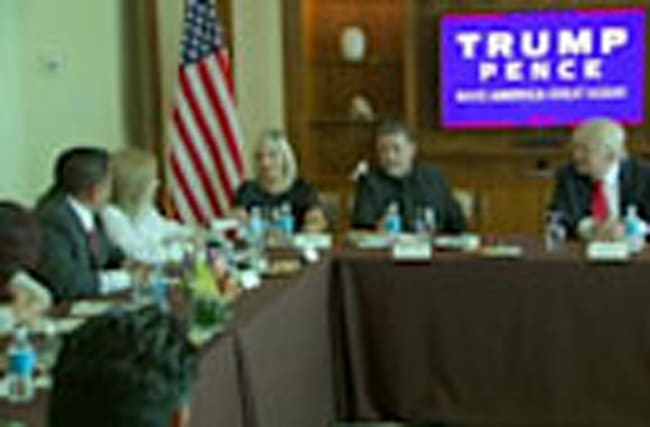 Trump hosts Hispanic business roundtable