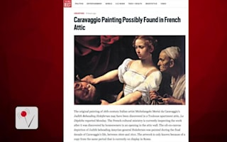 Has a missing Caravaggio painting been found in an attic?