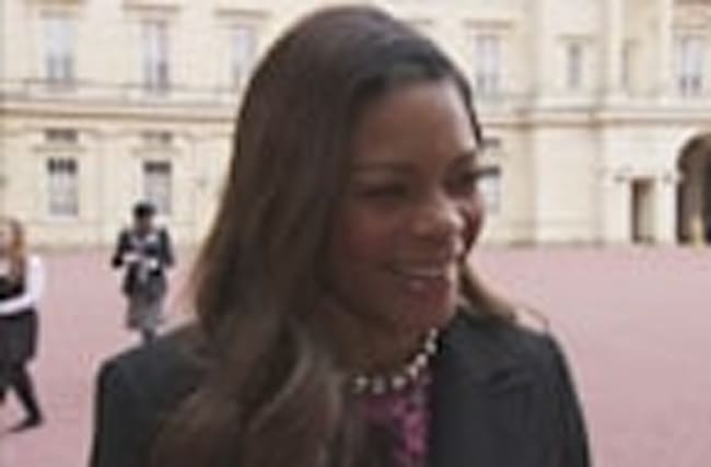 Naomie Harris receives an OBE from the Queen