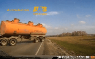 Video: Dash cam footage reveals Russia's closest shaves