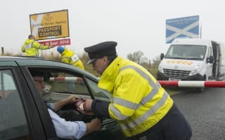 ​Pranksters create spoof Scottish passport control