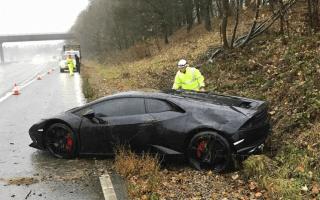 Leicester City footballer crashes £190,000 Lamborghini