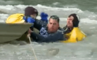 Dramatic rescue after man jumps into freezing Idaho river (video)