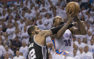 Durant praises team-mates after 41-point game against Spurs