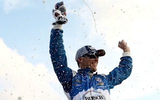 Harvick wins in Bristol after near 24-hour delay