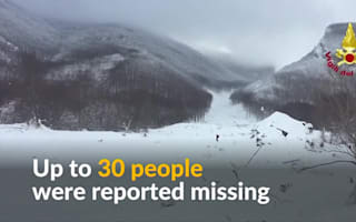 Italy avalanche: Eight people found alive