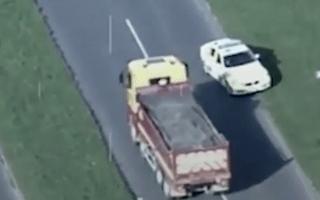 Shocking footage captures moment man went on rampage in stolen 32-tonne truck