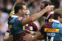 Quins sink Saracens, Wasps stay perfect