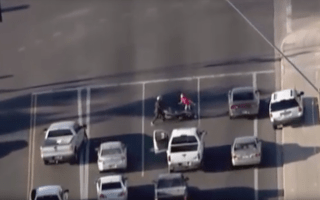Man fights off police chase suspect who tried to steal his motorbike