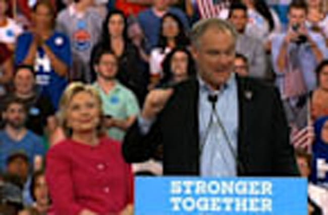 Clinton, Kaine Kick Off Post Convention Bus Tour