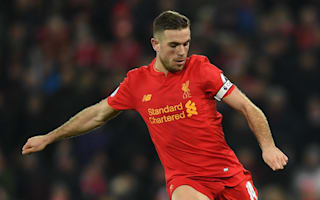 Henderson doubtful for Liverpool's crunch clash with Arsenal