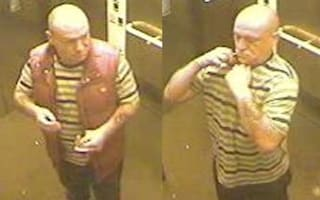 Police hunt man who got naked and urinated in train station lift