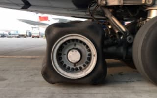 British Airways plane's square tyre baffles experts