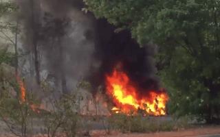 Tesla Model S bursts into flames on test drive