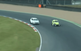 ​Video: Young driver charged after driving onto race track