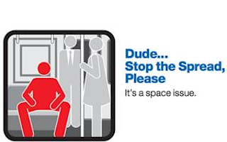 Men on New York subway asked to keep their legs closed
