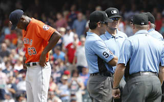 Indians benefit from umpire error, Padres crush Rockies