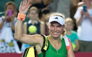 Wozniacki triumphs over injured Mladenovic