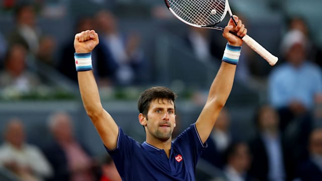 Djokovic advances to 3rd round in Madrid Open