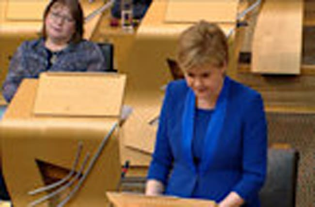 Sturgeon drops immediate plan for second Scottish referendum