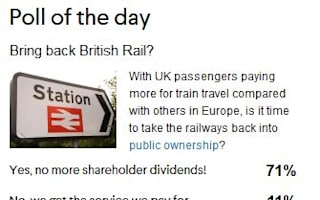 Railways should return to public ownership - poll