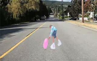 Canadian drivers to be slowed by 3D image of girl playing in road