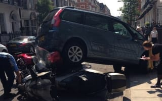 People carrier causes carnage in central London