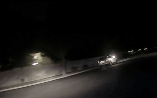 This is the shocking moment police are shot at during chase