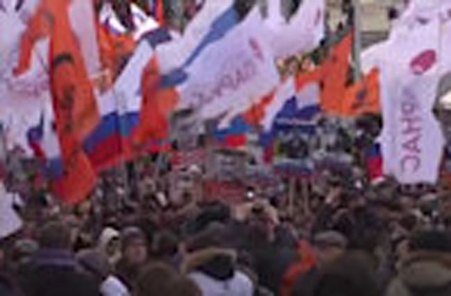 Thousands march in Moscow on second anniversary of Kremlin critic's murder