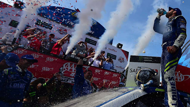 Jimmie Johnson Wins the AAA 400