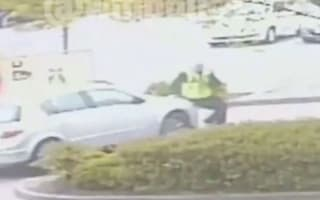 CCTV captures police worker being thrown on to car's bonnet