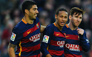 Barcelona squad tease Messi, Suarez and Neymar in rondo exercise