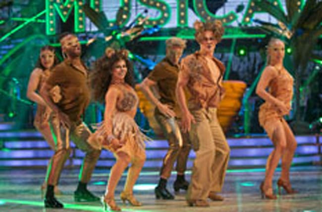 Judge Rinder struggles to keep up in Strictly's musicals week