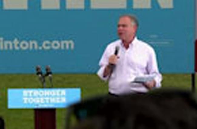 Kaine stumps in Florida