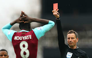 West Ham 2 Crystal Palace 2: Kouyate red costs hosts in top-four race