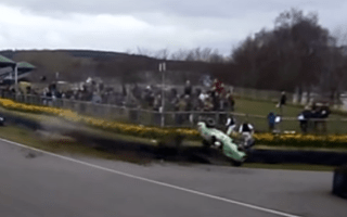 Racing driver makes remarkable escape after Goodwood crash